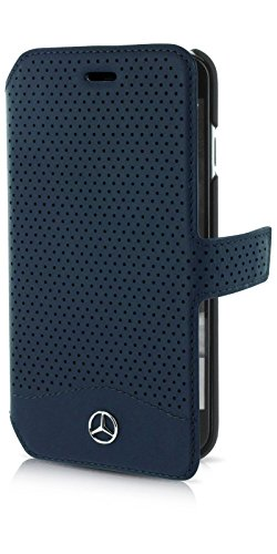 mercedes-wave-ii-genuine-leather-perforated-booktype-case-blue-abyss-iphone-7-plus