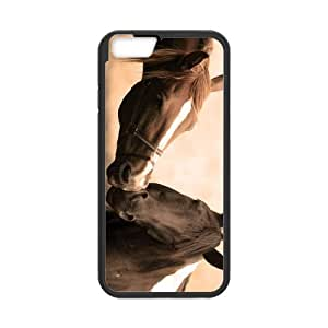iPhone 6 Case, Quarter Horse Kiss Tender Feeling pc Frame & PC Hard Back Protective Cover Bumper Case for Iphone 6 (4.7) (2014)