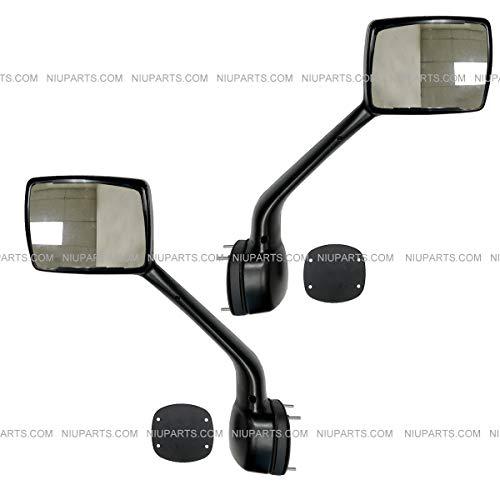 Hood Mirror Black with Mounting Kits Driver and Passenger Side (Fit: Kenworth T680 Peterbilt 579 - Hood Peterbilt