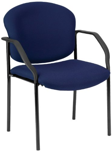 OFM 404-804 Manor Series Deluxe Upholstered Stacking Guest Chair, Navy For Sale