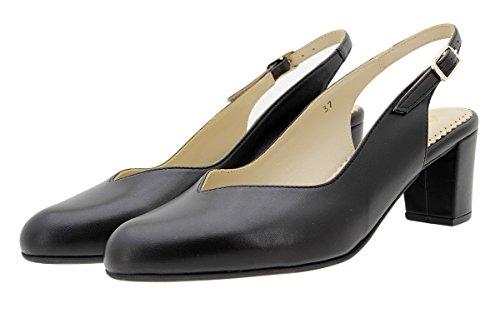 Confort Zapato Piel 180229 PieSanto Nude Salón Grabado Negro qvfRZR