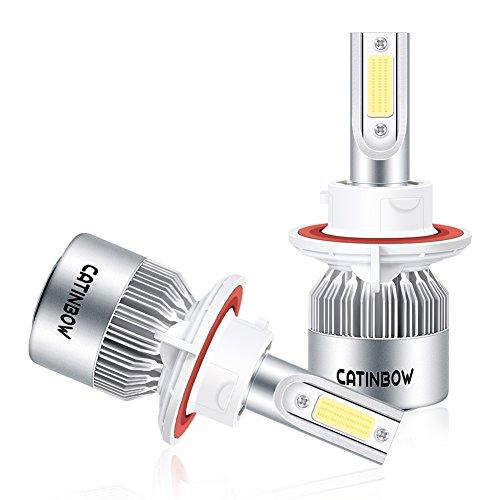 Catinbow LED Headlight Bulbs H13 (9008) 80W 8000LM Plug & Play High/Low Beam LED Headlight Bulb Conversion Kit 6000K White - Pair