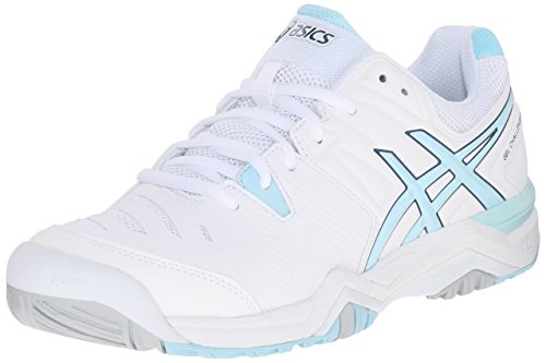 ASICS Women's GEL-Challenger 10 Tennis Shoe, White/Crystal Blue/Blue Steel, 9 M US