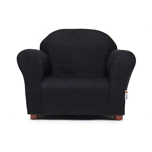 Keet Roundy Childrens Chair Microsuede, Black