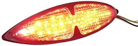 Motorrad Ma/ßgefertigt Schwarz Universal LED hinter Stop R/ücklicht