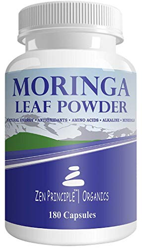2 Pack 360 Capsules Organic Moringa Oleifera, Ultra-Premium. Provides an All Natural Energy Boost and Multi-Vitamin. A Raw Superfood, Vegan, No GMO and Gluten Free