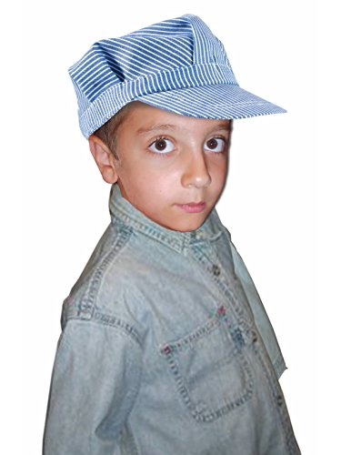 Forum Novelties Child Deluxe Train Engineer Conductor Hat, Blue/White