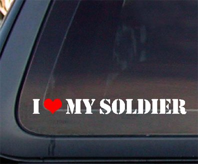 Love Soldier Heart Decal Sticker