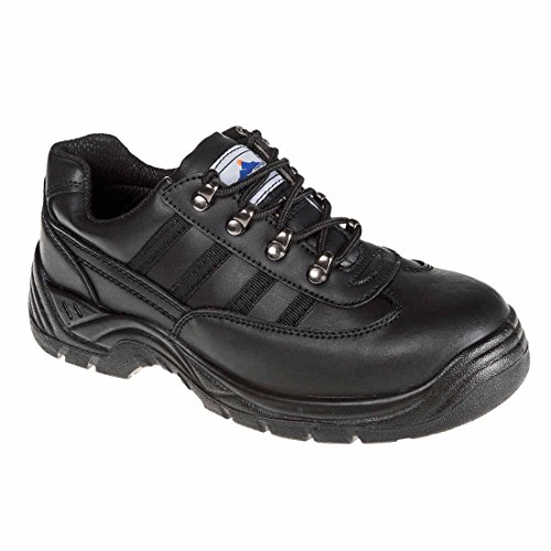 Midsole Leather resist Steel Portwest Shoes FW25SIZE9 Buffalo Trainer Ref negro 9 S1P Size Chemical Black wwxIY