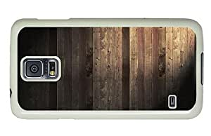 Hipster Samsung Galaxy S5 Case new covers wood planks PC White for Samsung S5