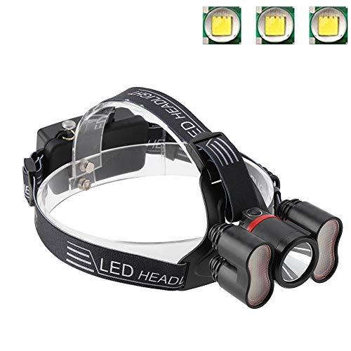 桃名義でショットヘッドライト懐中電灯、2000LMヘッドライト18650 LED USB充電式防水トラベルヘッドトーチキャンプランプランニングハイキング釣りに適して(#1)