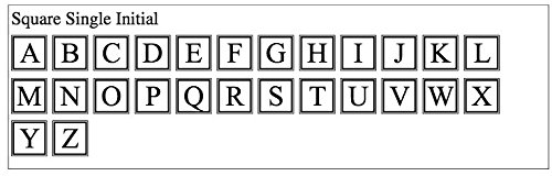 Carved Solutions 735255448337  Medium Everyday Board with Etched Square Single Initial M.