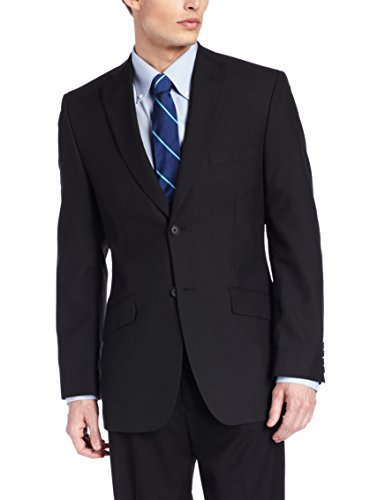 Tailored Fit Two Button Suit Separate Coat,  Black, 46 S (Short Suit Separates)