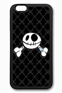 Cool Skull 1 Slim Soft Cover for iPhone 6 Plus Case ( 5.5 inch ) TPU Black Cases
