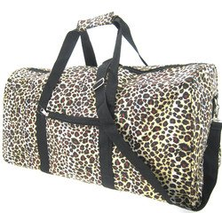 (World Traveler Leopard Gym Duffle Bag 21-inch)