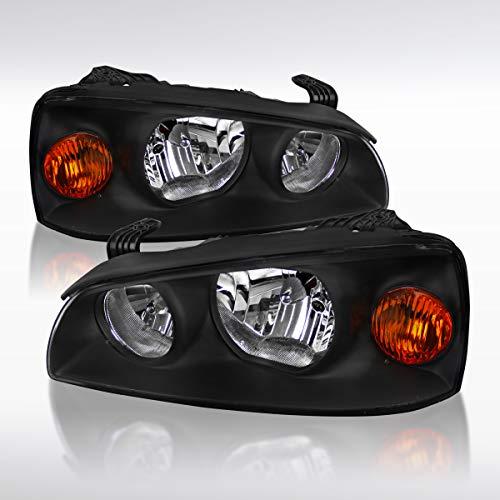 Autozensation For Hyundai Elantra Black Clear Headlights+Amber Reflector Left+Right
