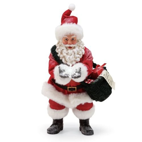 Department 56 Snow Flakes Santa by Possible Dreams Musical Figurine, 10.5