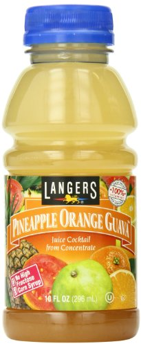 Langers Juice Cocktail, Pineapple Orange Guava, 10 Ounce (Pack of 12) ()