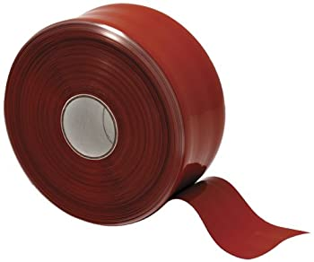 "X-Treme Tape TPE-XR1536ZLR Silicone Rubber Self Fusing Tape, 1.5"" x 36', Rectangular, Iron Oxide Red"