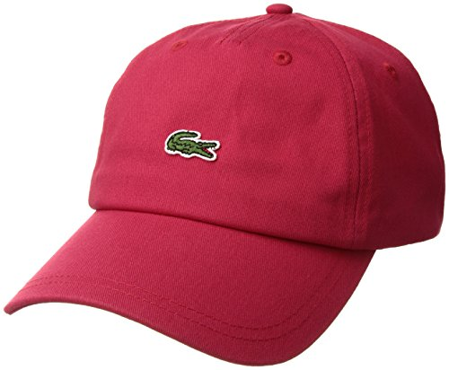 Red Embroidered Cap - Lacoste Men's Embroidered Crocodile Cotton Cap, red, One Size