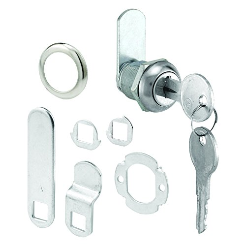 (Defender Security U 9941KA Prime Line U-9941Ka Cam Lock, 2 Key, Die Cast Stainless Steel, 5/8