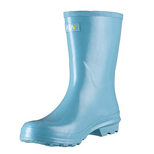 WTW Women's Knee High Rain Boots Size 7 (Blue)