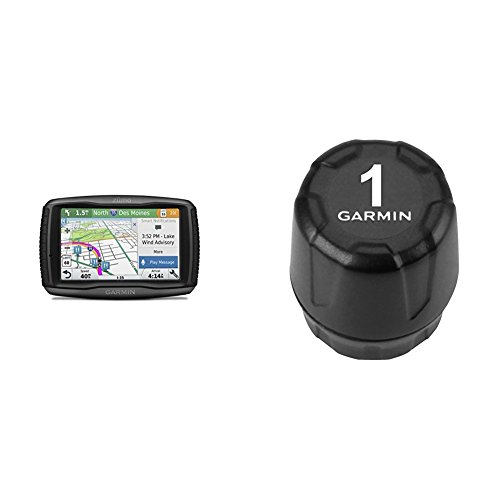 Garmin Zumo 595LM and Tire Pressure Monitor Sensor Bundle by