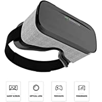 3D Virtual Reality Headsets with Large Viewing Immersive Experience VR Headset HD VR Goggles for VR Games and 3D Movie Compatible for Iphone 6/6s 7 or Samsung S6/S7/S8