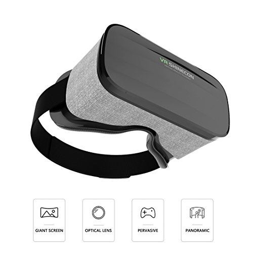 3D Virtual Reality Headsets with Large Viewing Immersive Experience VR Headset HD VR Goggles for VR Games and 3D Movie Compatible for Iphone 6/6s 7 or Samsung S6/S7/S8 by JIEZE