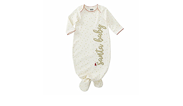 Mud Pie Santa Baby Glitter Star Sleep Gown Baby Costumes
