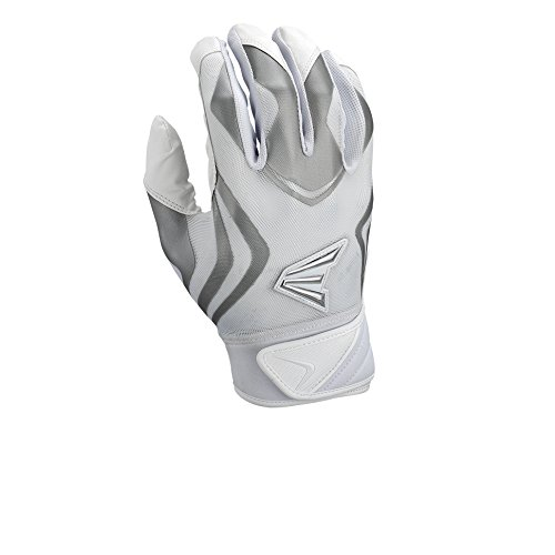 Easton Prowess Fast Pitch Batting Gloves, White, Medium