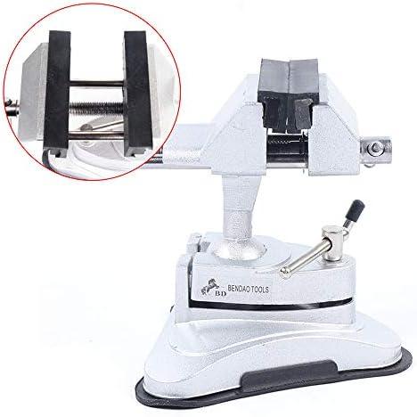Dyrabrest Multi-Positioning Hobby Vise-Suction Portable 360°adjustment Bench Sawing Suction Machine