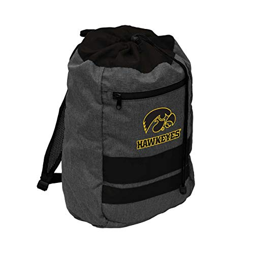Hawkeyes Iowa Ncaa (Logo Iowa Hawkeyes NCAA Journey Backsack - Black,)