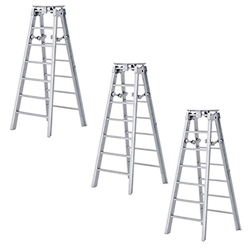 Set of 3 Silver Ladders for WWE Wrestling Action Figures