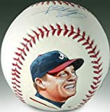 Chipper Jones Hand Painted and Signed Baseball