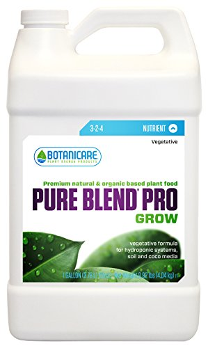 Botanicare 718480 Pure Blend Pro Grow Terpene Enhancing Base Nutrient Vegetative Formula, 1-Gallon