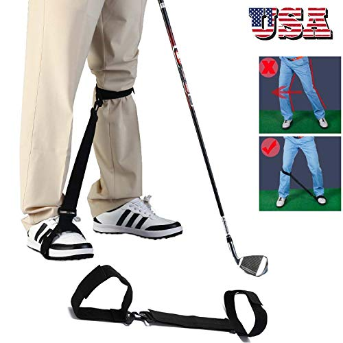 Amy Sport Golf Swing Trainer Leg Correction Belt Training Aid Post Orthotics Strap, Professional Poster Corrector for Men Women Golfer Beginners Practice (Best Female Golf Swing)