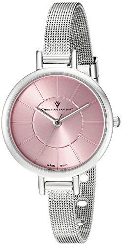 Christian Van Sant Women's CV6612 Analog Display Quartz Silver-Tone Stainless Steel Watch