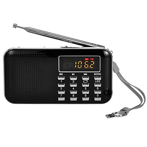 iMinker Mini Portable Digital AM/FM Radio Media Speaker MP3 Music Player...