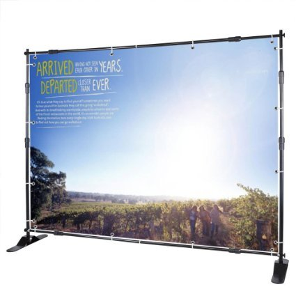 8' Jumbo Telescopic Step Repeat Logo Wall Adjustable Backdrop Banner Stand w/ Carrying Bag for Display Photographic Background Trade Show by Generic