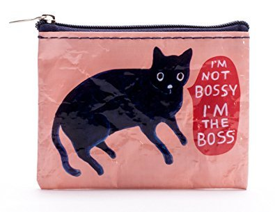 Boss Cat - Blue Q Bags, Coin Purse, I'm Not Bossy I'm The Boss, Multi-Colored, One Size