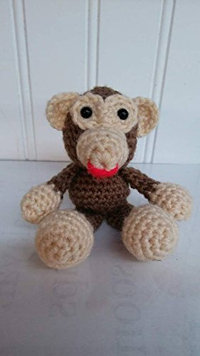 Crochet Stuffed Amigurumi Monkey Animal Plush Child Toy Collection Handmade, Childrens Gift