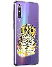 Oihxse Compatible con Xiaomi Mi 9T / Mi 9T Pro Funda Suave Gel TPU Silicona Cristal Transparente Carcasa Acuarela Animal Pintado Patrón Protectora Estuche Bumper Caso Case (B5)