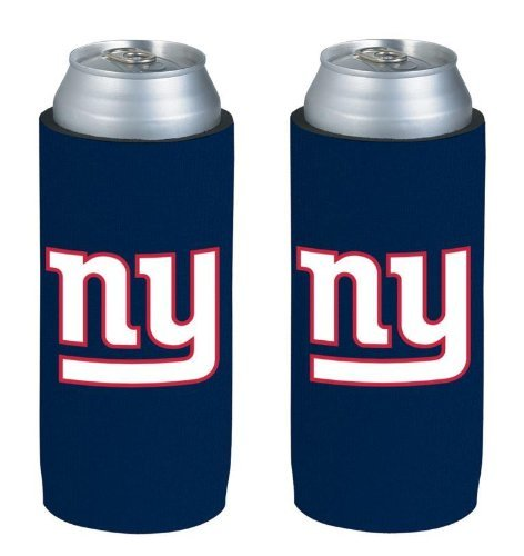 NFL 2013 Football Ultra Slim Beer Can Holder Koozie 2-Pack - Pick your team (New York - New York Giants Beer