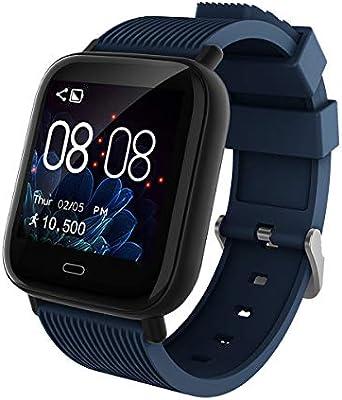 Smartwatch Deporte Mujer Hombre Impermeable Reloj Inteligente con Monitore de Actividad Monitor de Frecuencia Cardiaca Podómetro Impermeable Monitor ...