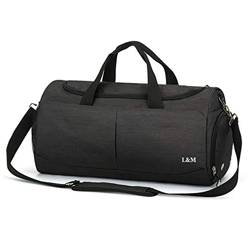 Duffle Bag for Men Gym Bag with Shoes Compartment Sports Travel Bag Waterproof Holdall Weekend Overnight Bag