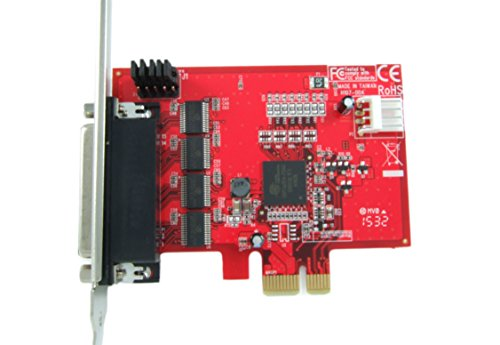 Ableconn PEX4S-954 4 Port RS232 PCI Express Serial Adapter Card with Power Output and 16950 UART (OXPCIe954 Chipset) - Optional 5V Power Output on Pin9 of DB9 by Ableconn (Image #2)