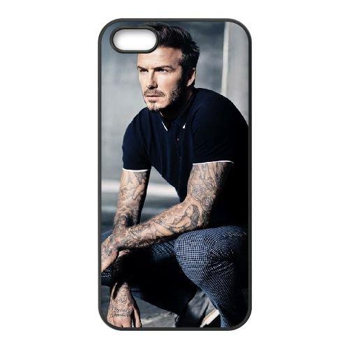 David Beckham 004 coque iPhone 5 5S cellulaire cas coque de téléphone cas téléphone cellulaire noir couvercle EOKXLLNCD23074