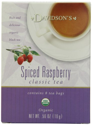 Davidson's Tea Spiced Raspberry, 8-Count Tea Bags (Pack of 12)