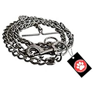 Pawzone Stainless Steel Coated Training Chain/Leash for Dogs (XL)(63.5inch x 1cm x 0.3mm)